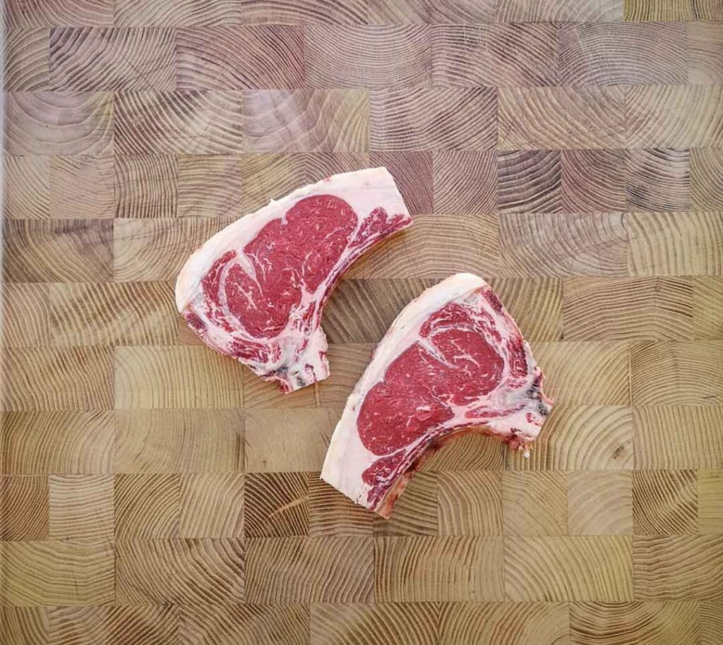 Dry-aged sirloin chops